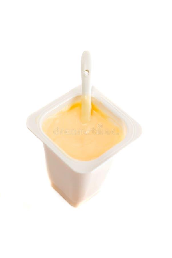 Orange yogurt royalty free stock images