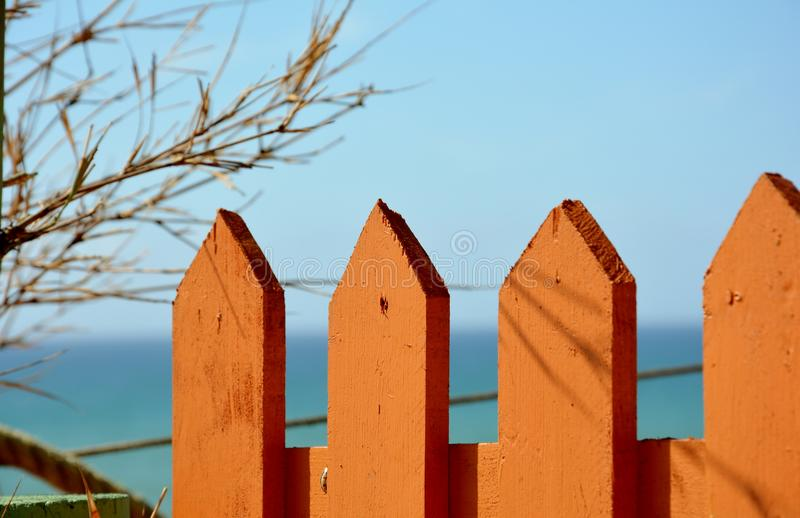 Orange Zaun lizenzfreies stockfoto