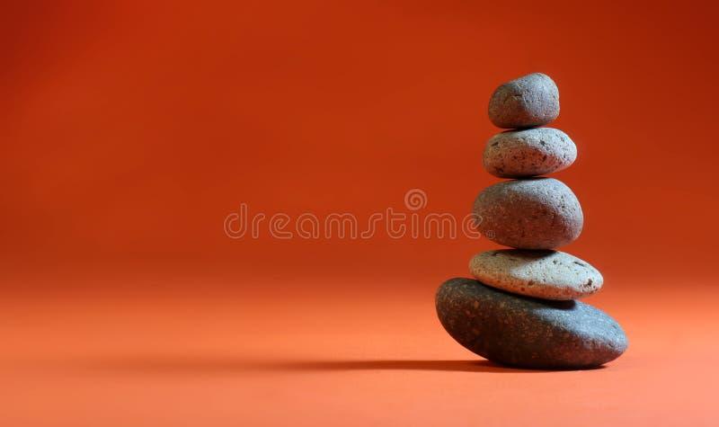 Orange Zen-Stapel stockfotografie