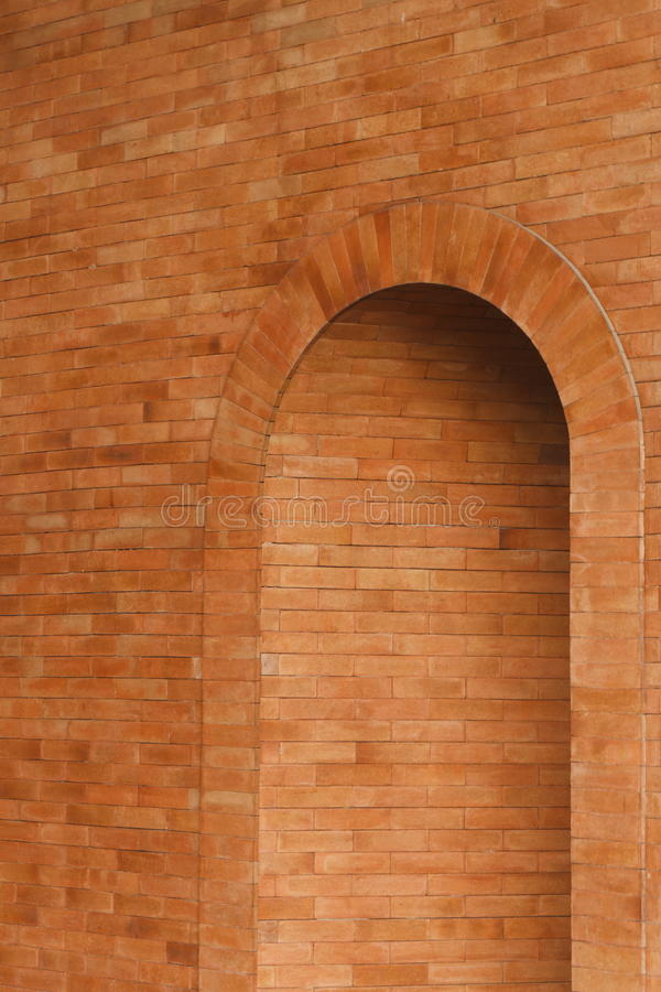 Orange Ziegelsteineingang für Muster stockfoto