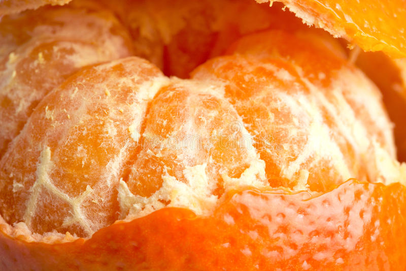 Orange Zitrusfrucht-Mandarinenahaufnahme stockfoto