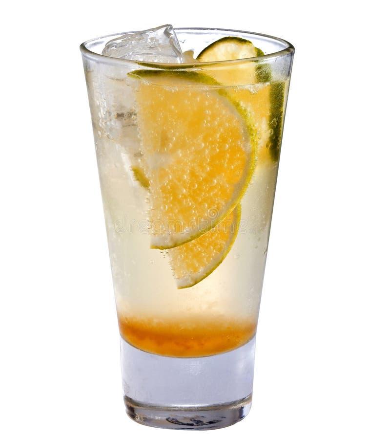 Orangeade com gelo imagem de stock