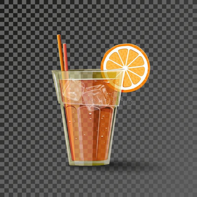 Orangeade dans le verre illustration stock