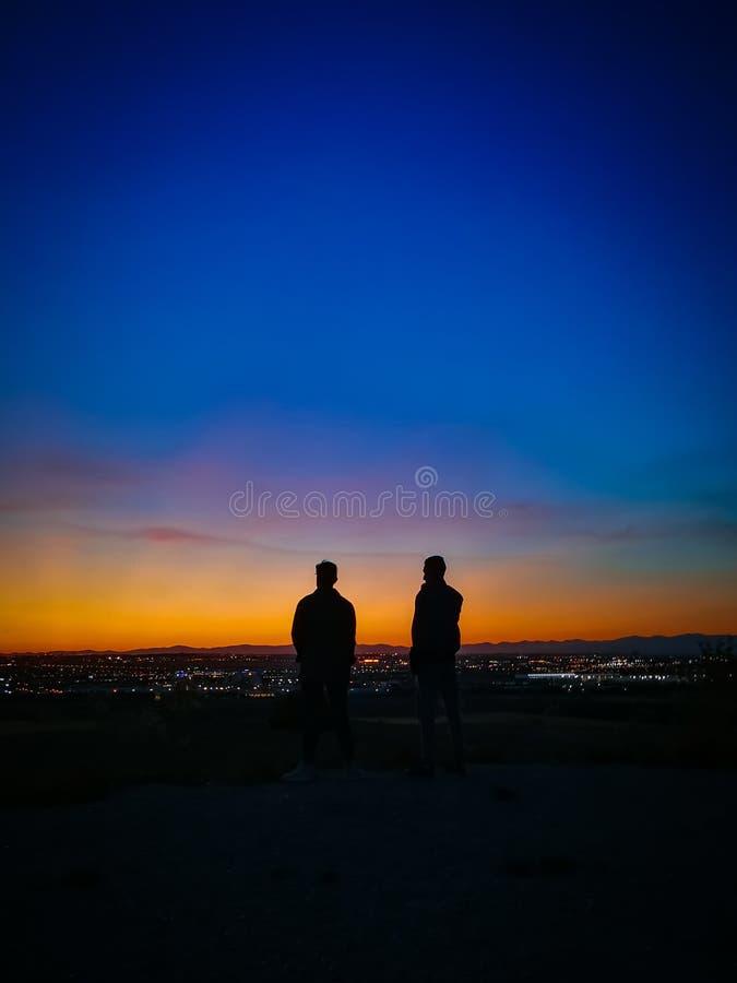 OrangeBlueShadow fotografia stock libera da diritti