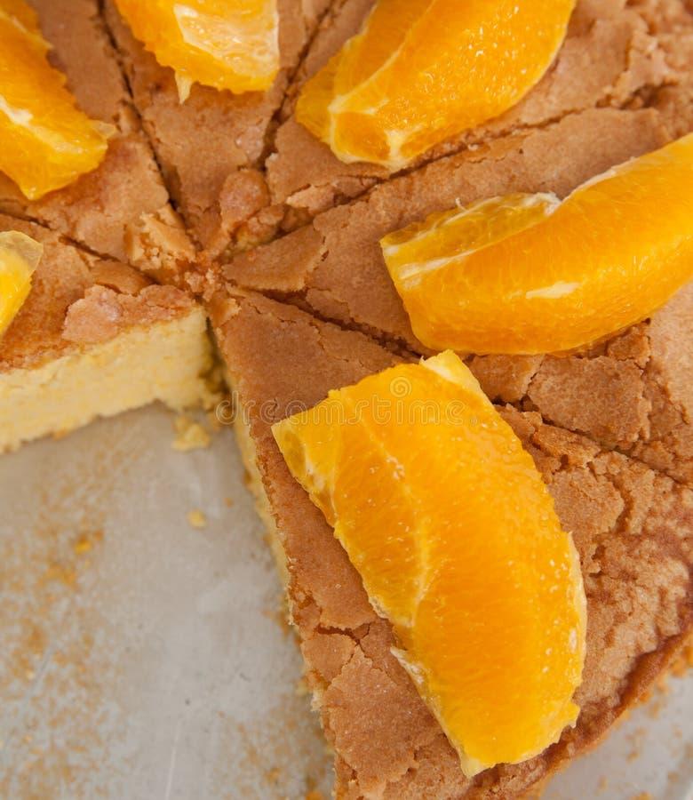 Orangecake imagem de stock royalty free