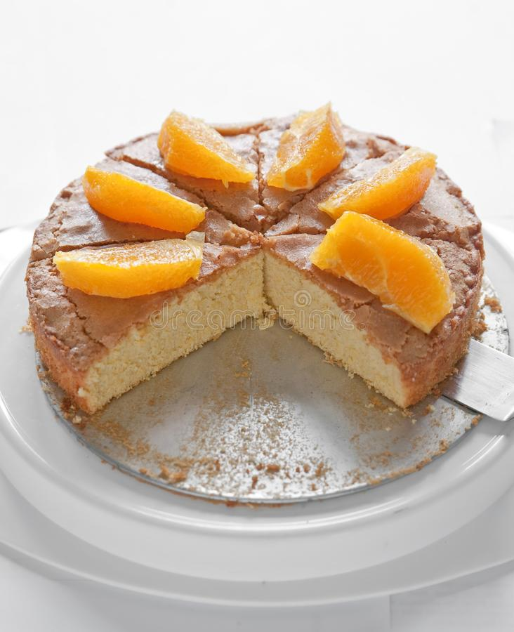 Orangecake fotografia stock libera da diritti