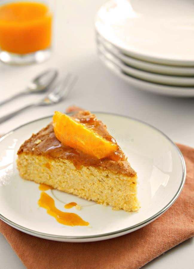 Orangecake fotografia stock