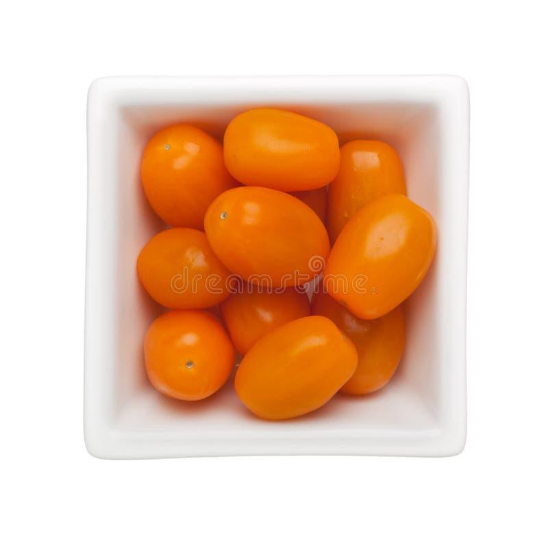 Orangefarbene Kirschtomate stockfotos