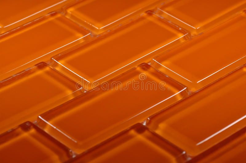 Orangefarbenes Glasmosaik lizenzfreie stockfotografie