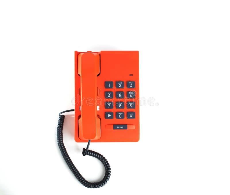 Orangefarbenes Weinlesetelefon stockbilder