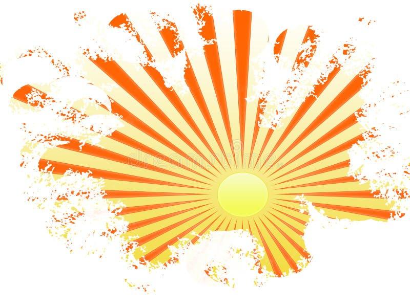 Orangegelbe Sonnestrahlen stock abbildung