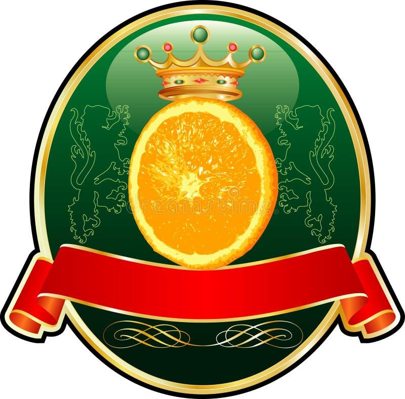orangelabel 向量例证