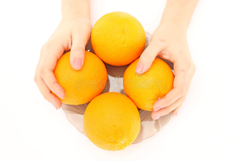 Orangen in der Schüssel stockfoto