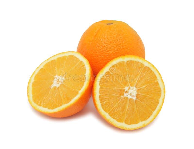 Orangen, getrennt lizenzfreies stockfoto