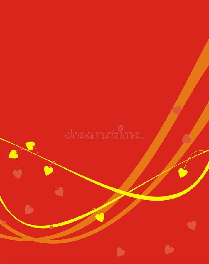 orangen river av yellow royaltyfri illustrationer