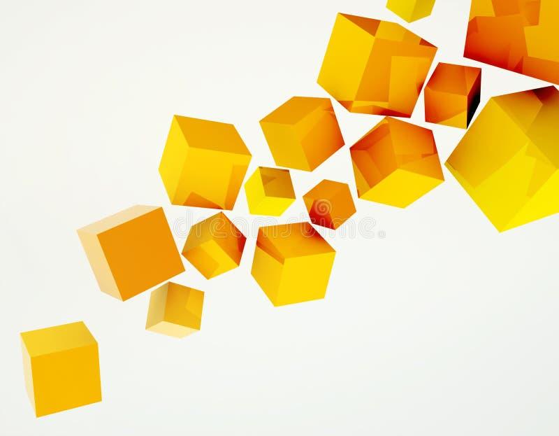 Orangen skära i tärningar bakgrund royaltyfri illustrationer