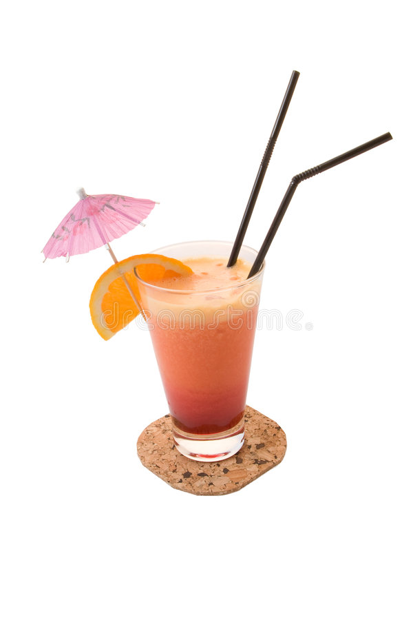 Orangen-und Banane Cocktail lizenzfreies stockbild