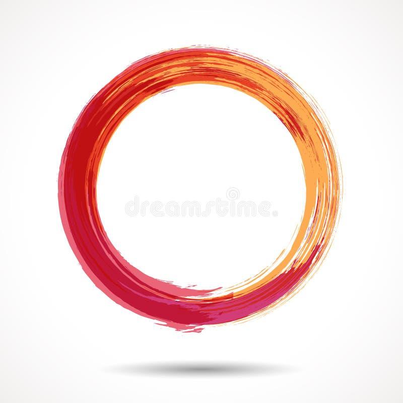 Orangen- und marsalamode redete Aquarellring an vektor abbildung