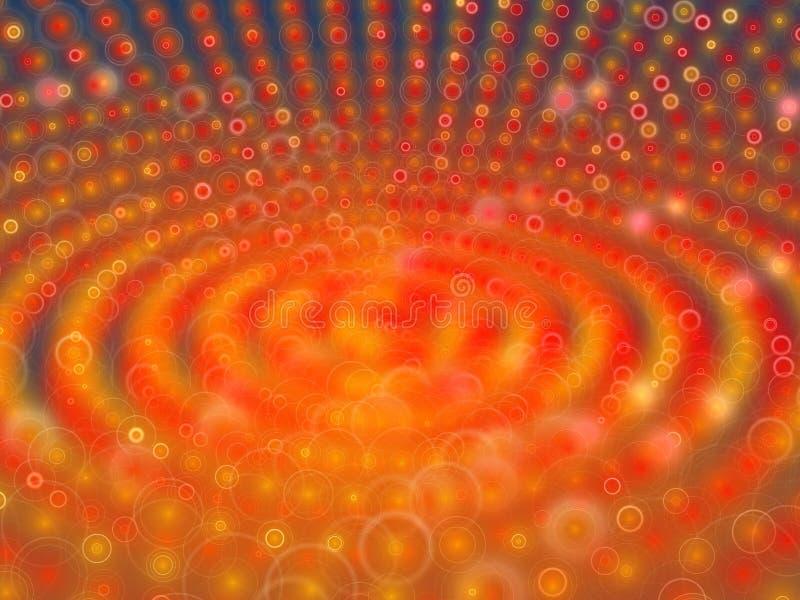 Orangenhallo Ring-Oberflächenhintergrund stock abbildung