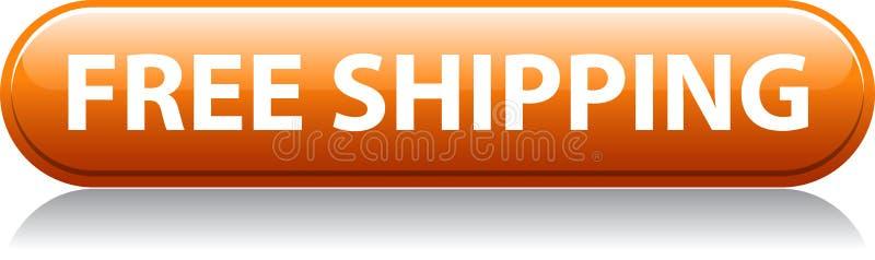 Orangenknopf des kostenlosen Versands vektor abbildung