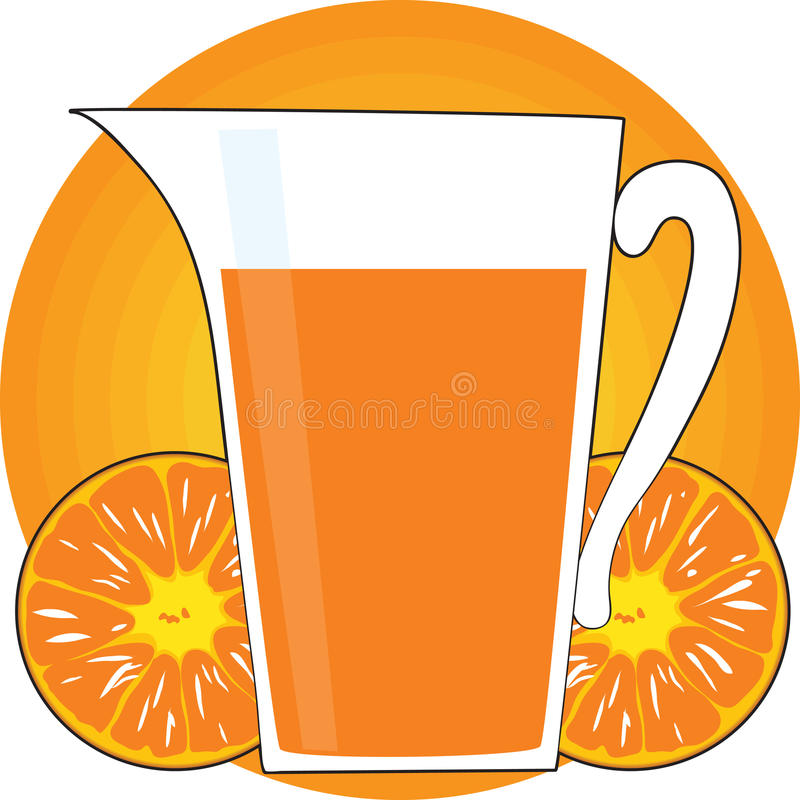 Orangensaft stock abbildung