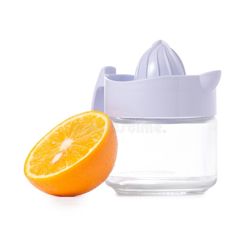 Orangensaft des Juicer stockfotografie