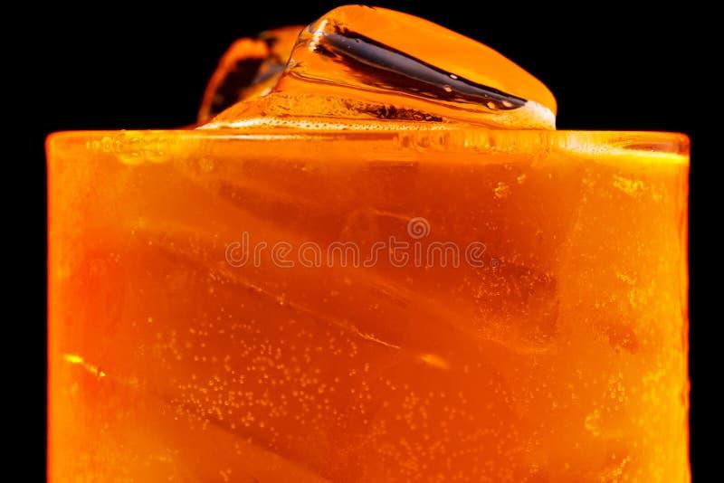 Orangensaft des Sodaeises lizenzfreies stockbild