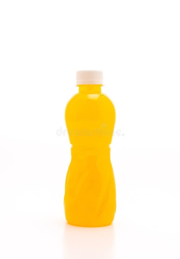 Orangensaft mit Nata de coco oder Kokosnussgelee stockbilder