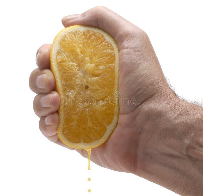 Orangensaftpressung lizenzfreie stockfotografie