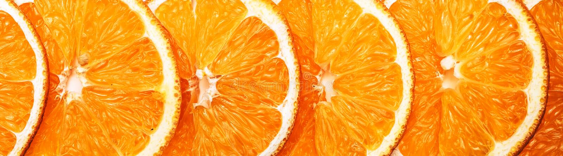 Orangenscheiben - köstliche essbare Hintergrundgrenze stockfoto