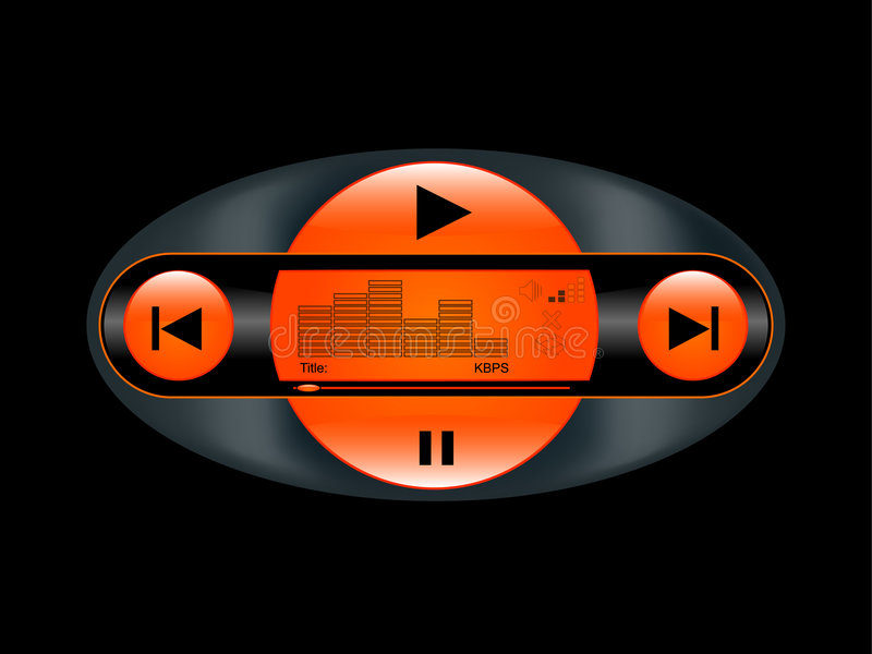 OrangePlay royalty-vrije illustratie