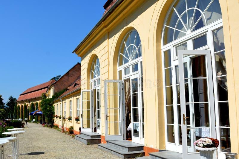 Orangerie de Baron von Brukenthal Palace en Avrig, Transilvania fotografía de archivo