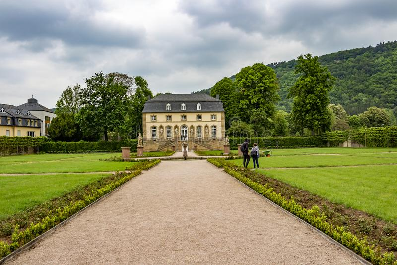 The Orangery in the abbey garden in Echternach, Luxembourg royalty free stock images