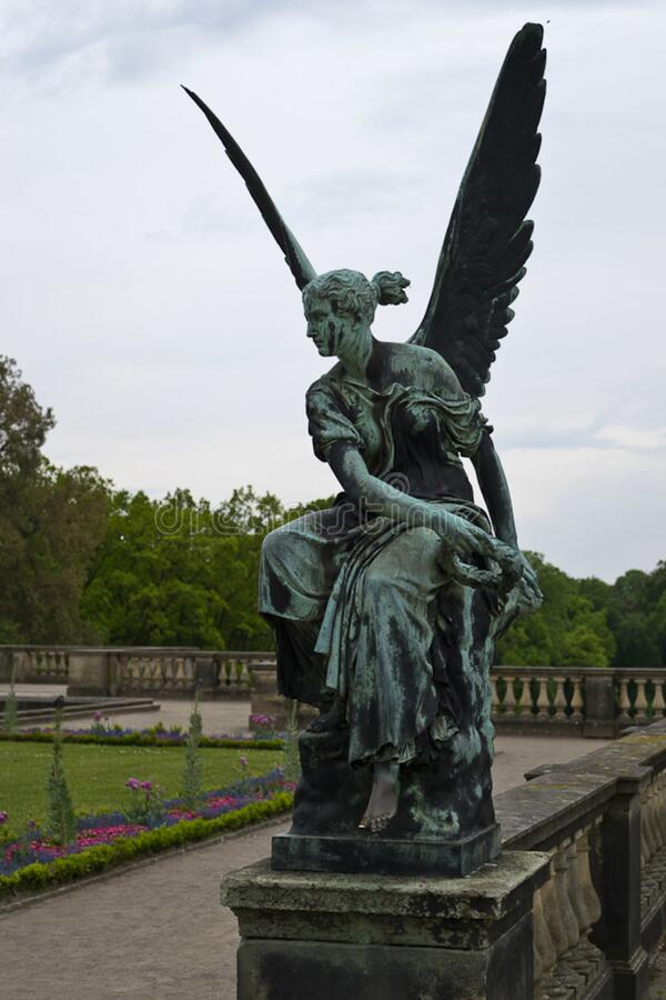 Orangery Palace statue of an angel stock images