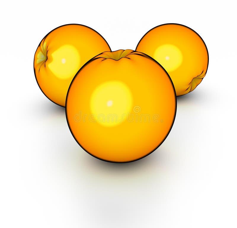 Oranges illustration de vecteur