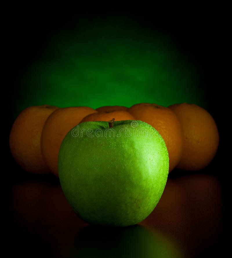Free Oranges And Apple Like Billiard Balls Royalty Free Stock Images - 12537599