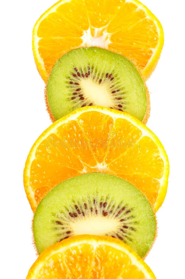 Free Oranges And Kiwis Slices Royalty Free Stock Photos - 1606658