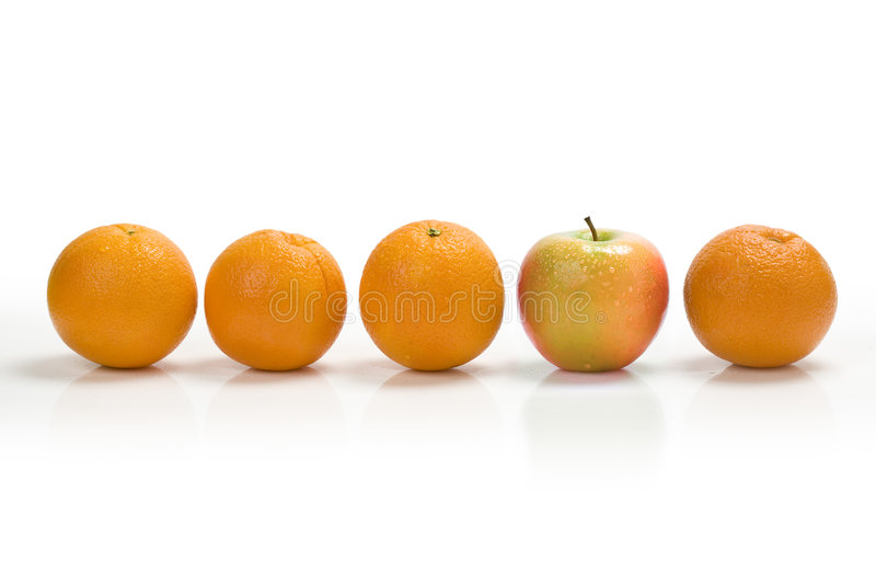 Download Oranges And Apple stock photo. Image of white, produce - 6438870