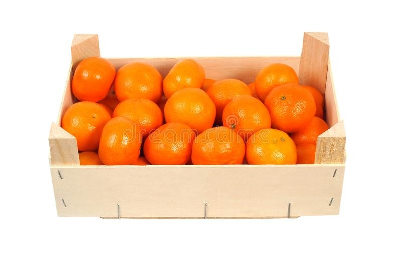 Oranges in a box stock photos