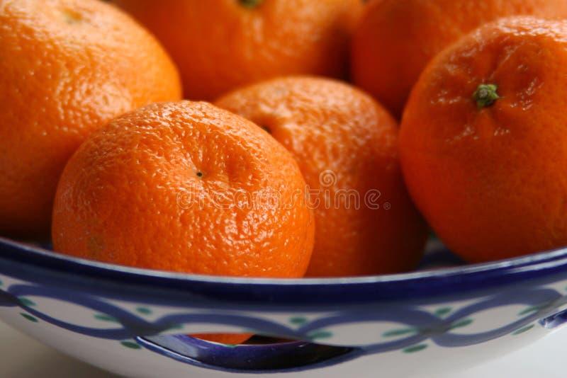 Oranges Is Ceramic Dish Stock Photo