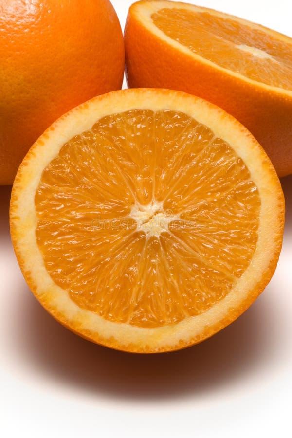 Oranges coupées en tranches photographie stock