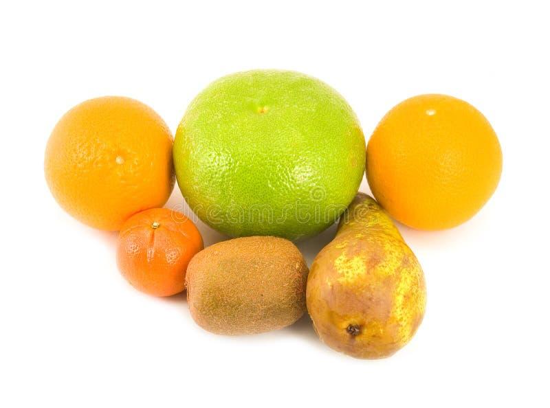 Oranges de pamplemousse de poire image libre de droits