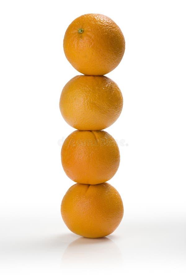 oranges empilées photographie stock libre de droits