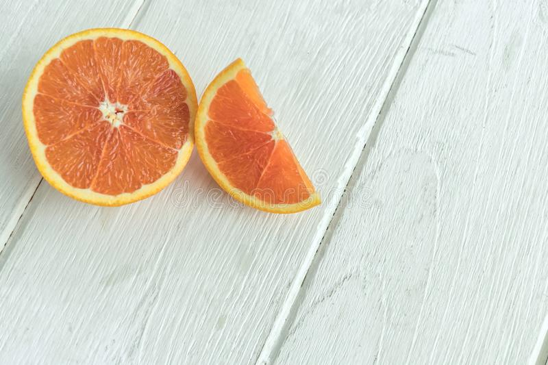 Oranges with fruits on the table royalty free stock photo