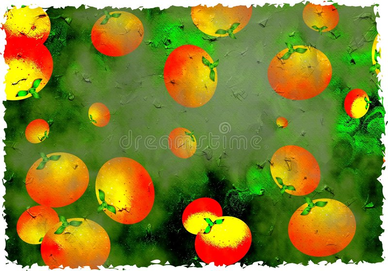Oranges grunges illustration stock