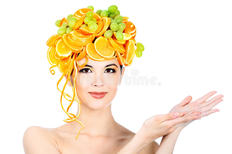 Download Oranges head stock image. Image of diet, fashion, hold - 15511607