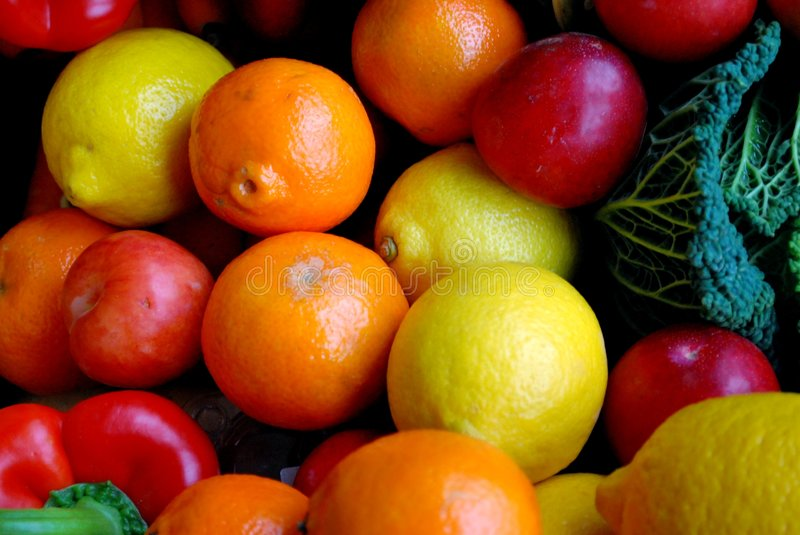 Download Oranges and lemons stock image. Image of mixed, background - 7536257