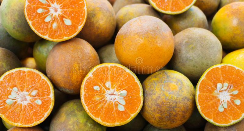 Oranges in market royalty free stock photography