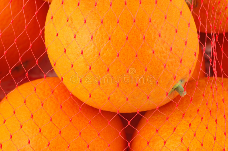 Download Oranges In Mesh Bag Stock Photo - Image: 5475200