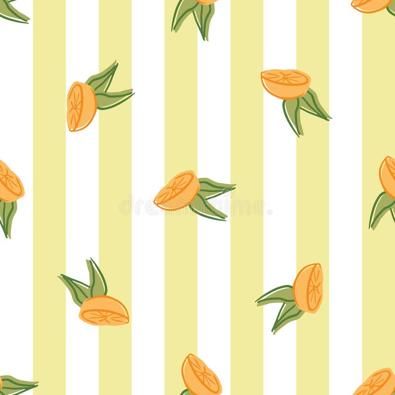 Oranges orange vector seamless repeat pattern. Perfect for food illustration, background and textile design vector illustration